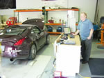 SR Racing's Jim Schings administering the SuperFlow dyno