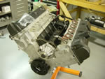 A customer's Mustang engine getting ready to be rebuilt
